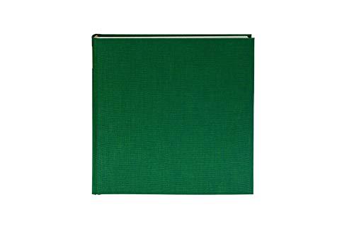Goldbuch Fotoalbum, Summertime Trend, 30 x 31 cm, 100 weiße Seiten mit Pergamin-Trennblättern, Leinen, Dunkelgrün, 31806