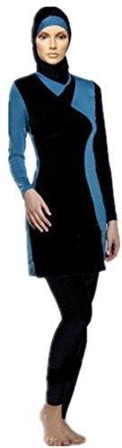 Muslimischen Badeanzug - Muslim Islamischen Full Cover Bescheidene Badebekleidung Modest Swimwear Beachwear Burkini für muslimische frauen (Int'l - S, neu 2)