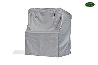 Premium Schutzhülle für Strandkorb aus Polyester Oxford 600D - lichtgrau - von 'mehr Garten' - Standardgröße (Breite: max. 125cm) von Schutzhüllenprofi auf Gartenmöbel von Du und Dein Garten