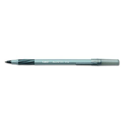 Round Stic Grip Xtra Comfort Ballpoint Pen, Black Ink, Fine, Dozen, Sold as 1 Dozen