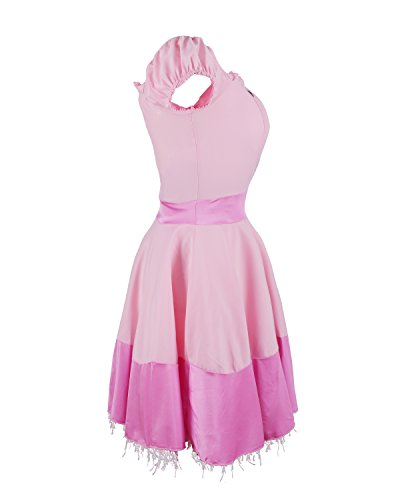 Imagen de disfraz de emma's wardrobe de la princesa peach  incluye vestido de princesa rosa, tiara y par de largos guantes blancos  traje de la bella durmiente o traje princesa peach para fiestas tamaño 44 alternativa