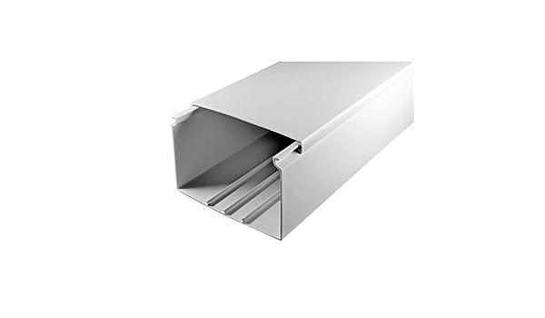 wei/ß L x B x H 2000 x 100 x 60 mm, PVC, Kabelleiste, Schraubbar SCOS Smartcosat SCOSKK61 10 m Kabelkanal