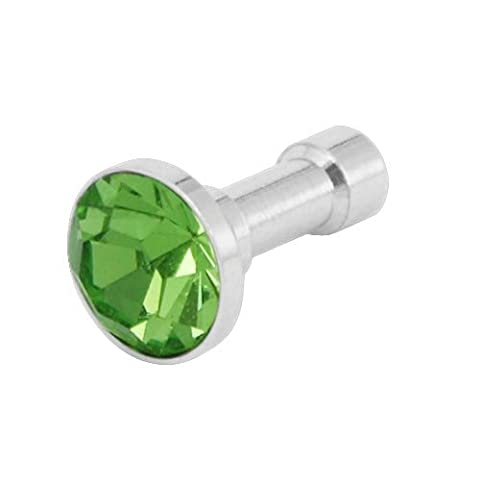 Green Crystal 3.5mm Dustproof Headphone Plug Charm for Apple iPhone