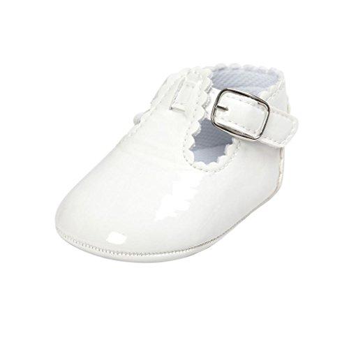 Zapatos Bebé niña, Bebé Cuero Princesa Suave Suela Zapatos niña Zapatillas Zapatos Casuales 0-18...