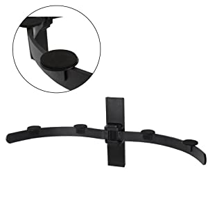 AMOS DVD Wall Bracket Wall Mount Universal Multi Purpose Floating Wall Shelf with Padded Arm for XBOX One XBOX 360 / PlayStation PS4 PS3 PS2 / Sky Box / Virgin Media TiVo Box / Nintendo Wii / FreeView / Freesat / Digibox / Blu-ray Player / AV / HD / Wi-Fi