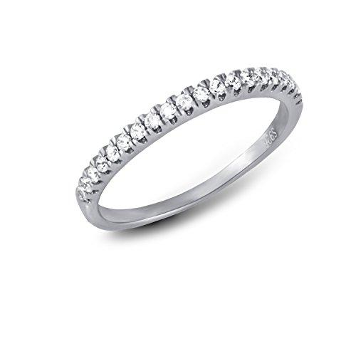 CRIGER Damen Schmuck, Ring aus 925 Sterling Silber rhodiniert & Nickelfrei inkl. Etui-Geschenkbox, Ringgröße:59 (18.8 mm Ø)