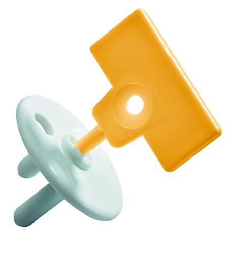 Safety 1st 3202002000 Euro Steckdosensicherung für Babys und Kleinkinder, 12er Pack mit 4 Schlüsseln (12 Stück), weiß