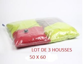 LOT DE 3 SACS COMPRESSEURS AIR PARFUMEE 50X60