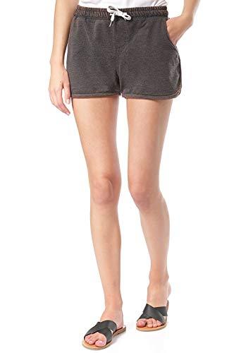 Lakeville Mountain Damen Shorts Kasai | Coole Shorts mit elastischem Bund (Schwarz, S)