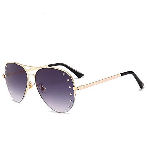 SQYJING Sonnenbrille New Aviator Shades Diamant Sonnenbrille Frauen Spiegel Gläser Kristall Dekoration Sonnenbrille Sonnenbrille, Random Color-cb2p