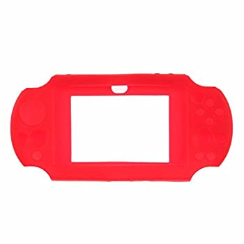 Silicone Rubber Skin Cover Case For Sony Ps Vita (Psv Pch-1003) - Red 1