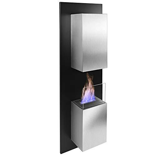RS Trade® Kreta Bio-Ethanol Wand-Kamin Tisch-Kamin Stand-Kamin Ofen Edelstahl Deko Feuerstelle Feuersäule Feuerkorb