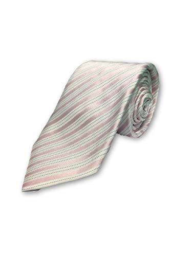 Strellson tie in pink and white stripe pattern