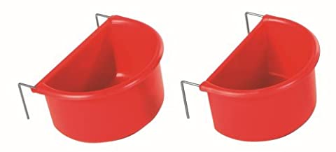 Trixie Hanging Bowls with Wire Holder, 2-Piece