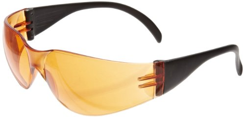 SAS Safety 5342 Cricket Safety Glasses, Orange Lens, Black Frame (Case of 12) by Thomas Scientific - Black Lab-frame