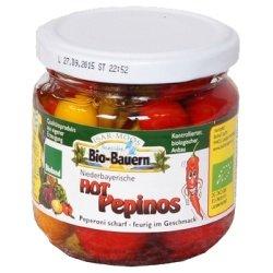 "Isar-Moos Chili-Peperoni-Mischung ""Hot Pepinos"" im Glas (180 g) - Bio"