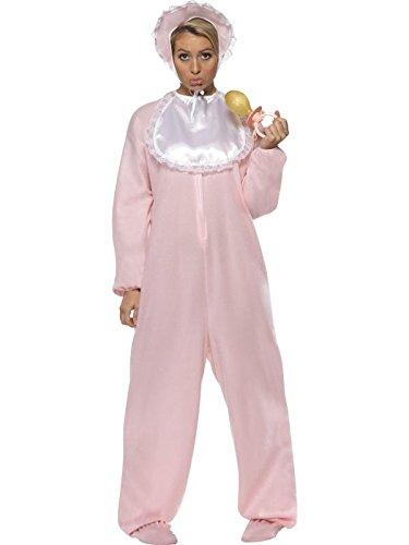 Damen Riesenbaby Kostüm Schlafmütze Verkleidung Riesen Baby Gr. M komplett mit Strampler Schlabberlätzchen Baby-Schlafmütze Riesen-Quietsche-Schnuller Junggesellenabschied