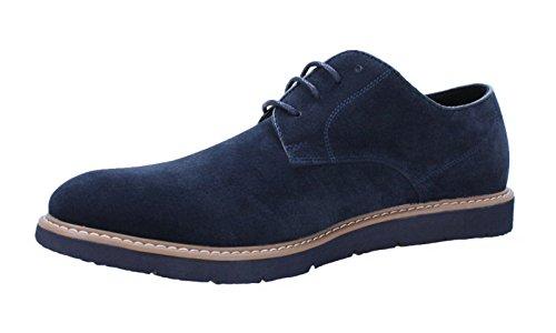 Scarpe uomo casual blu scamosciate invernali polacchine shoes eleganti (40)