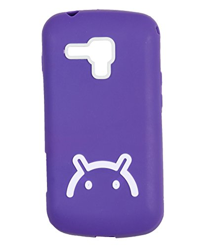 iCandy Soft TPU Back Cover For Samsung Galaxy S Duos S7562/ S2 Duos S7582 - Purple  available at amazon for Rs.99