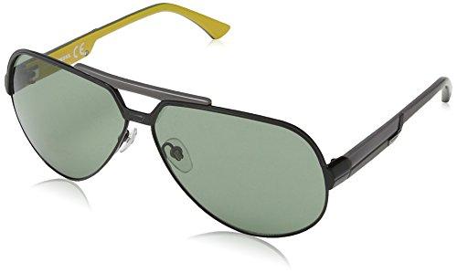 Diesel Unisex DL0026 Sonnenbrille, Black Yellow & Grey Frame / Gradient Grey, Gr. One size