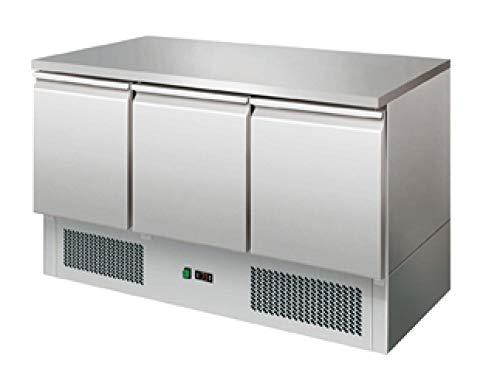 Arbeitstisch Türen (Kühltisch 3 Türen Arbeitstisch Kühlschrank Vorbereitungstisch Pizzatisch Gewerbe Gastronomie)