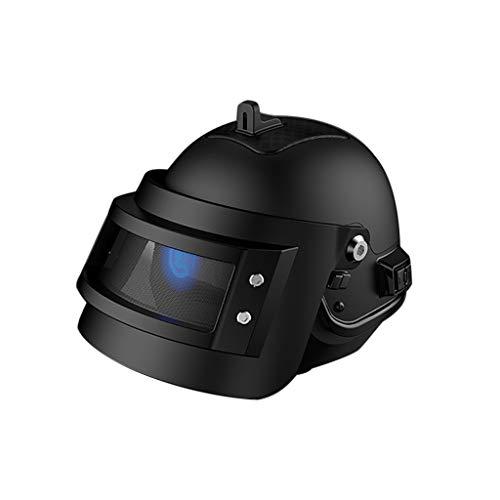 Bluetooth Lautsprecher,Helm Wireless Bluetooth Gesanglautsprecher,Beste Bluetooth-Wireless-Lautsprecher Mini SUPER Bass Portable für Smartphone-Tablet Sound System 3D Stereo Surround (Black)