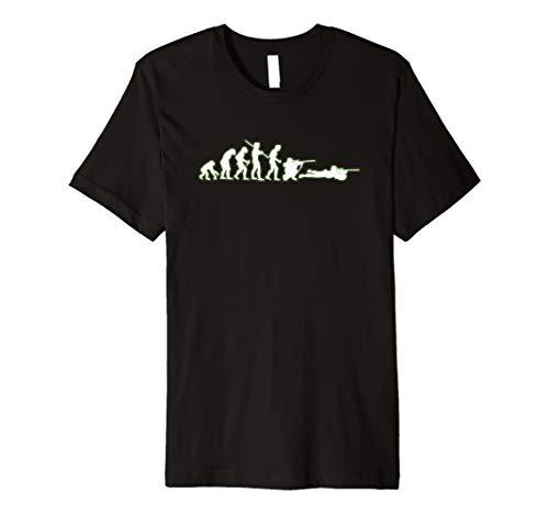 Scharfschütze Lustiges Evolution T-Shirt für Soldaten