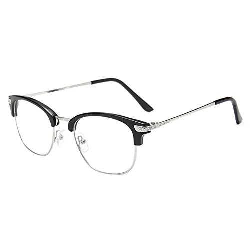 Preisvergleich Produktbild Deylaying Near Sighted Hälfte Felge Anti-Strahlung Short Entfernung Brille Kurzsichtigkeit Myopia Brillen -1.0 to -6.0 (Diese sind nicht Lesen Brille)