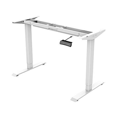 Flexispot ED2W Höhenverstellbarer Schreibtisch Elektrisch höhenverstellbares Tischgestell, passt für alle gängigen Tischplatten. Mit Memory-Steuerung und Softstart/-Stop