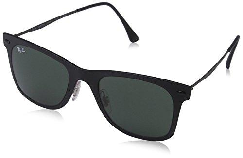 Ray-Ban Unisex Sonnenbrille Wayfarer Light Ray, (Gestell: schwarz Glas: grün 601S71), Small (Herstellergröße: 50)