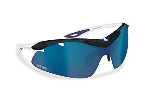 Occhiali per Ciclismo Sci Running Golf con lente intercambiabile, antifog, nasello regolabile - Bertoni Italy AF900B
