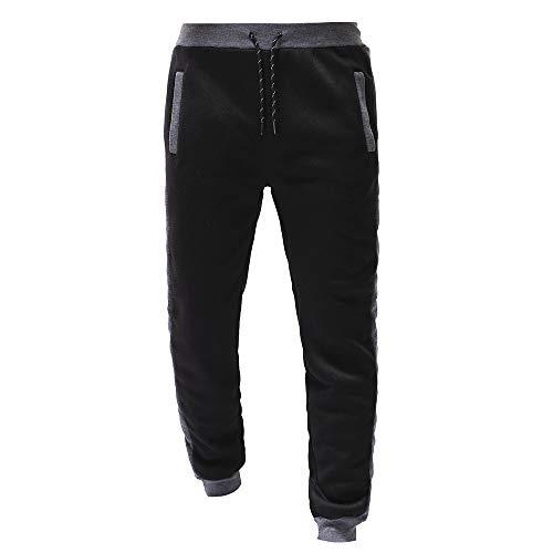 Solike Homme Pantalon Longue de Sport Jogging Bas de Survêtement Sweatwear Pants Slim Fit Décontracté Sportwear Pants Taille Élastique Workout Jogger Gym Running