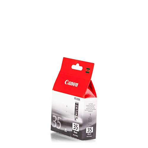Original Tinte passend für Canon Pixma IP 110 Canon PGI35, PGI35BK, PGI-35BK 1509B001 - Premium Drucker-Patrone - Schwarz - 191 Seiten - 9,3 ml - Canon-drucker-batterie