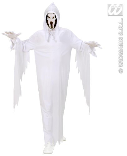 Widmann 02537 - Kinderkostüm Geist, Umhang und Maske, Gröߟe (Oktober Kostüme Halloween)