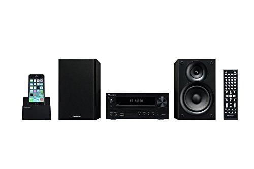 Pioneer X-HM32V Hifi-Micro-System (DVD/CD-Player, Lautsprecher, Bluetooth, Radio, USB 2.0, MP3, 2 x 30 Watt, App für Apple iOS und Android), Kompaktanlage mit Aluminium Front, Schwarz - Dvd-the Equalizer