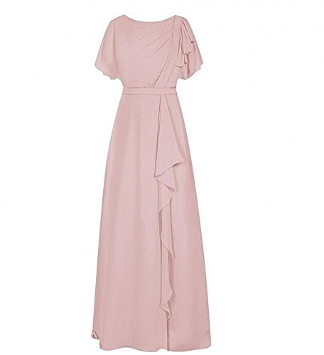 KA Beauty - Robe - Trapèze - Femme rose poudré