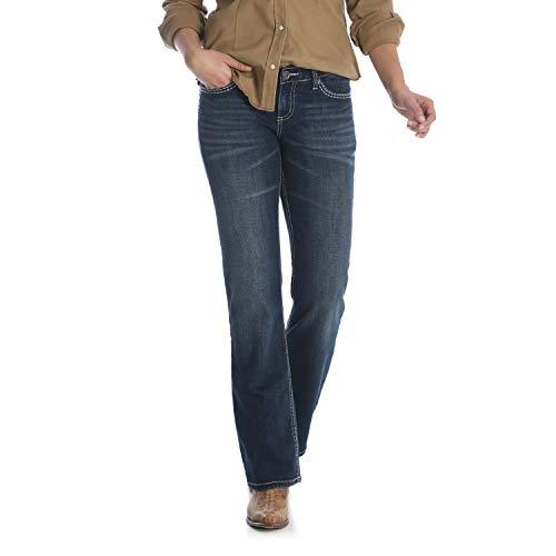 Wrangler Damen Shiloh Low Rise Boot Cut Ultimate Riding Jeans, Talk of The Town, 13W x 36L - Wrangler Low Rise