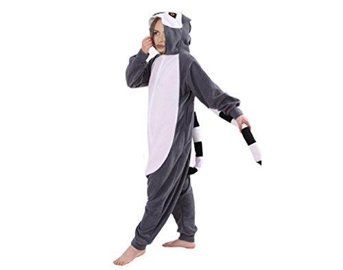 Für Kostüm Erwachsene Lemur - ZOLTA Onesie Lemur S M L Große Cosplay Kostüme Pyjama Erwachsene (M)
