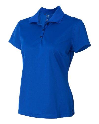 Adidas ClimaLite Basic Short Sleeve Polo, XL, Collegiate Royal/White