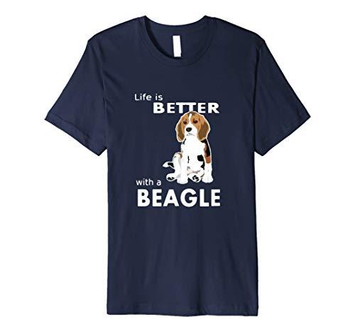 Life is better with a Beagle T-Shirt für Beagle Liebhaber -