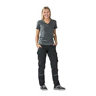Planam Norit Damen Bundhose, Farbe: Schwarz/Schwarz, Größe: 40