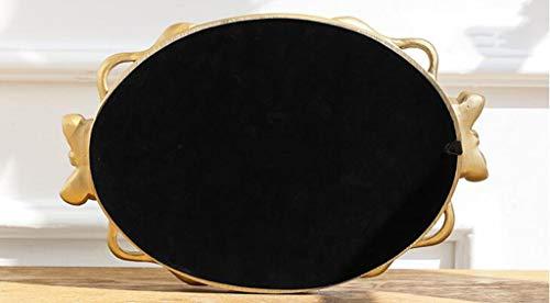 Lqy applique da parete a specchio per bagno con specchio ovale di