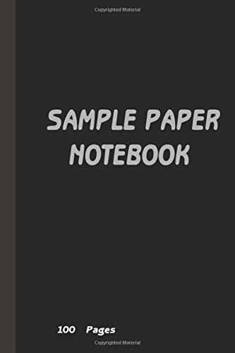 A sample of simple Black notes , The mind does not look at things with abstract eyes, but rather through a membrane of the culture in which it was nourished. Free simple notebook: 6x11 in - 100 Pages