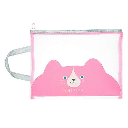 Jingranyou World -wide Mesh Zipper File Bags Documents Makeup Paper Pouch Pocket für Office School New(None Beard)