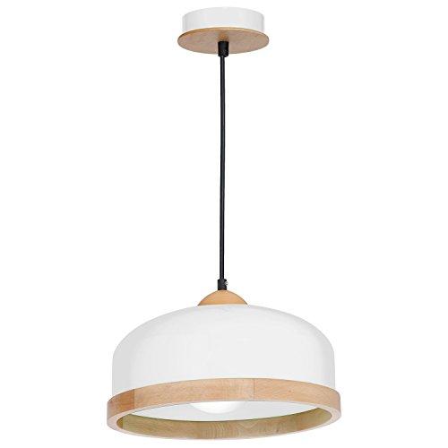 Hängelampe | Hängeleuchte | Deckenlampe 35cm | Holz | Höhenverstellbar | Lounge | Wohnzimmer |...