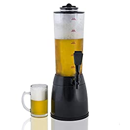 Gadgy ® Distributore di Birra | Capacità totale 3,5 L. Bevanda Drink Dispenser | Compartimento Separato di Ghiaccio | 53…