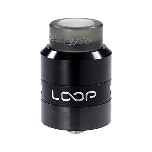 GeekVape Loop RDA Clearomizer, Durchmesser 24 mm, Selbstwickler, Squonker, Riccardo Verdampfer für e-Zigarette, schwarz