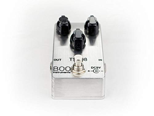 Boo Instruments Tube Screamer Overdrive TS-808 TS-9 TS808 TS9 Effekte-Pedal Verzerrung Standard polished metal
