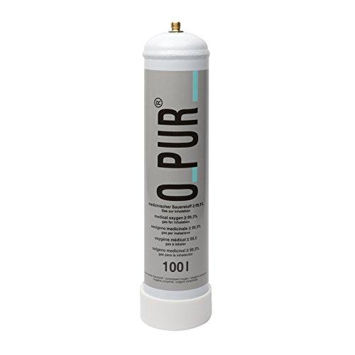 O-Pur Sauerstoff Einweg Stahlflasche 100l Nachfüllflasche