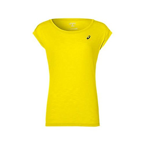 Asics Layering T-Shirt, Damen Gelb (blazing yellow)